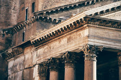 Panteondetalj, Rome Royaltyfria Bilder