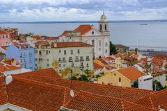 Panteondomkyrka i Lissabon, Portugal arkivbilder