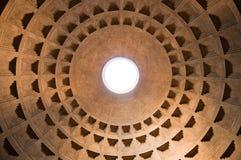Panteonu kopuły włochy widok przy Roma - Włochy Zdjęcie Stock