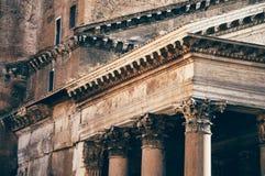 Panteonu szczegół, Rzym Obrazy Royalty Free