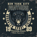 Panter Sport t-shirt graphics Stock Photography