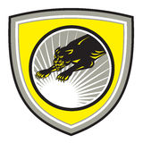 Panter stora Cat Growling Crest Royaltyfria Foton