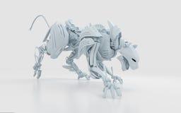 Pantera aggressiva bianca fredda Immagine Stock