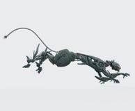 Pantera de acero hambrienta del cyborg Imagenes de archivo
