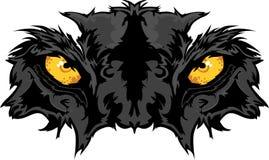 A pantera Eyes o gráfico da mascote Imagem de Stock