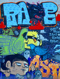 Pantera nera di Montreal di arte della via Immagini Stock