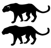 Pantera - silhueta Imagens de Stock