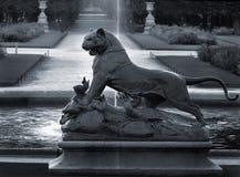 Pantera y cocodrilo Imagen de archivo
