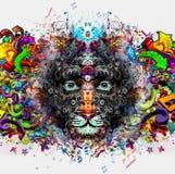 Pantera z niebieskimi oczami Zdjęcia Stock