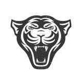 Panters hoofdembleem voor sportclub of team Dierlijke mascotte logotype malplaatje Vector illustratie Stock Foto's