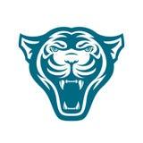 Panters hoofdembleem voor sportclub of team Dierlijke mascotte logotype malplaatje Vector illustratie Royalty-vrije Stock Afbeelding