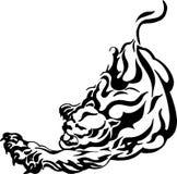 Panthère agressive - puma Photographie stock libre de droits