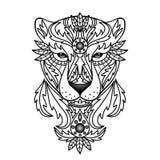 Panthère blanche ornementale Image libre de droits