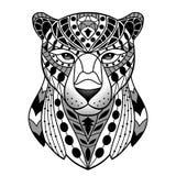Panthère noire abstraite Images libres de droits