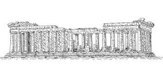 Panthéon illustration stock
