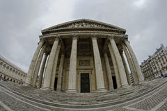 The Panthéon. Fisheye picture the Panthéon in Paris, France stock photography