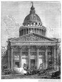 The Panthéon During the Paris Commune Royalty Free Stock Photography
