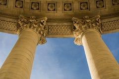 Panthéon Paris Corinthian pillars. The Panthéon is a building in the Latin Quarter in Paris. It was originally built as a church dedicated to St. Genevieve stock photos