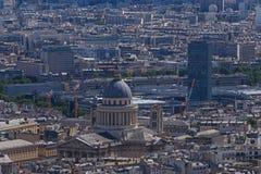 The Panthéon in Paris. View on The Panthéon in Paris stock images
