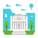 Panthéon plat Rome de conception illustration libre de droits
