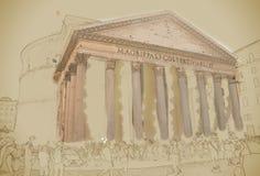 Panthéon, Rome illustration libre de droits
