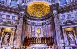 Panthéon Rome Italie d'autel Photo stock