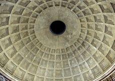Panthéon Rome Italie de nuit d'Oculus de dôme Photo libre de droits