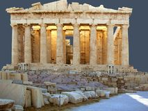 The Panthenon on the Acropolis. The Panthenon temple on the Acropolis in Greece Stock Photography