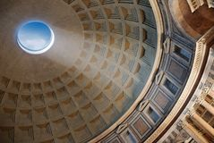 Pantheon. Internal part of dome in Pantheon, Rome, Italy Stock Image