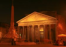 Night shot of Pantheon  Royalty Free Stock Photo