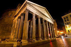 Pantheon. By night (Rome,Italy Royalty Free Stock Photography