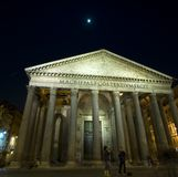 Pantheon. A night pantheon shot, in rome, italy Royalty Free Stock Photos