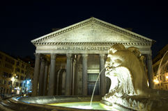 Pantheon. A night pantheon shot, in rome, italy Stock Photos