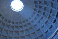 Pantheon. Inside the Pantheon lookinng through the oculus Royalty Free Stock Photo