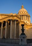 The Pantheon. At dusk - Paris, France stock photography