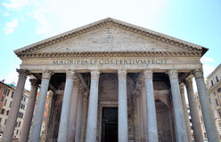 Pantheon. Ancient Pantheon in Rome, Italy Stock Image