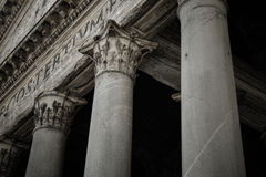 Pantheon of Agripa Pillars in Rome Royalty Free Stock Photos