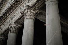 Pantheon of Agripa Pillars in Rome Royalty Free Stock Photos