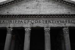 Pantheon of Agripa Pillars in Rome Stock Image