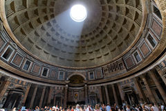 Pantheon of Agripa in Rome, Italy. View of the interior of the Pantheon of Agripa in Rome, Italy Stock Images