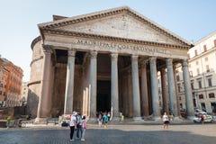 Pantheon, Ancient Roman building facade Stock Photos