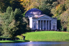Pantheon in Autumn, Stourhead Gardens, Wiltshire Royalty Free Stock Image