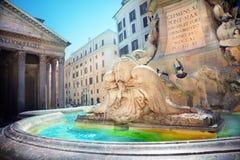 Pantheon-Brunnen Stockbild