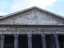 The Pantheon building in Rome Italy is now a church but formerly it was a building dedicated the all the Gods of Ancient Rome Stock Photo