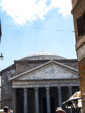 The Pantheon building in Rome Italy is now a church but formerly it was a building dedicated the all the Gods of Ancient Rome Royalty Free Stock Photography