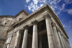Pantheon buiten in Rome, Italië. Royalty-vrije Stock Afbeelding