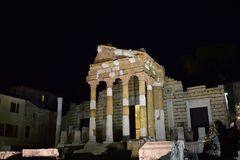 Free Pantheon Capitolium In Brescia Royalty Free Stock Images - 105308419