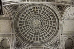 Pantheon Ceiling Stock Photography