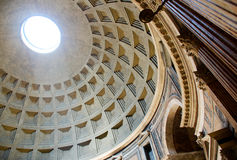 Pantheon Ceiling Stock Images