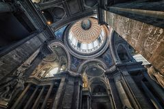Pantheon ceiling in Paris Stock Photo